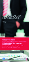 Wissenschaftliche Politikberatung - Roger Pielke jr.: Lessons from 50 Years of Science Advice to the US President